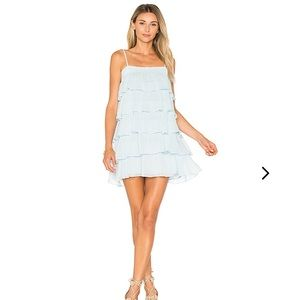 Lovers and Friends Liv Dress In Baby Blue, Medium